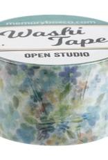 Memory Box Washi 1 Inch Floral Cornelia Aqua