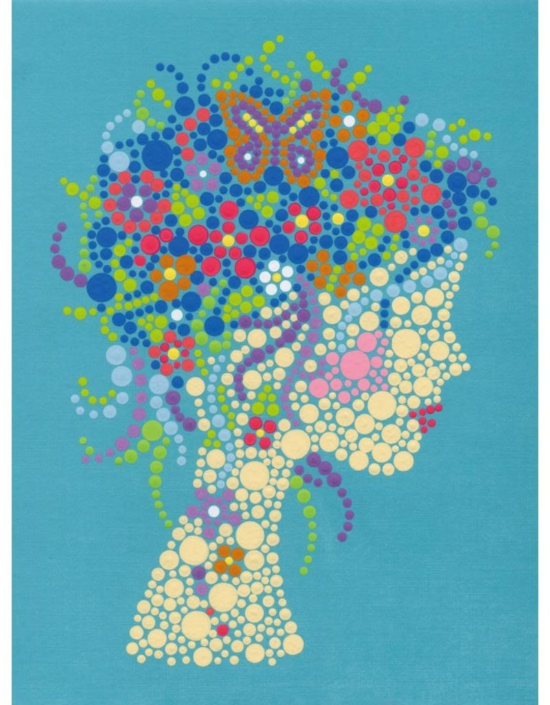 Dimensions Paint by Number Kit Girl Portrait Dots