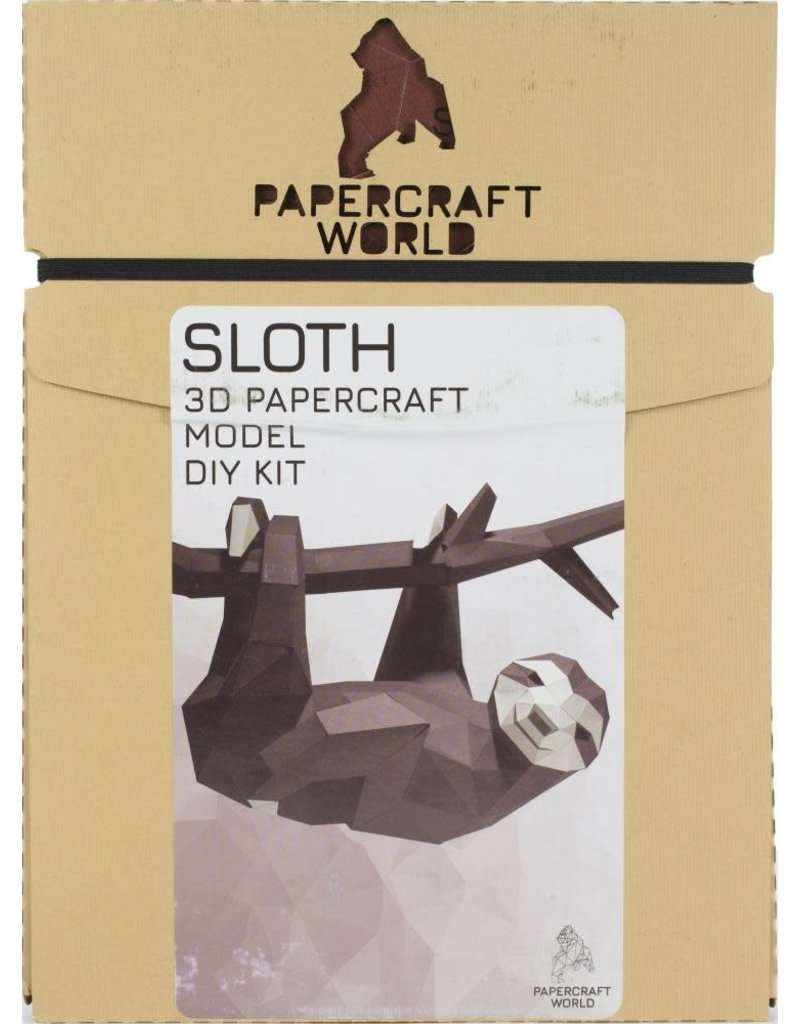Papercraft World 3D Papercraft Wall Art Kit Hanging Sloth