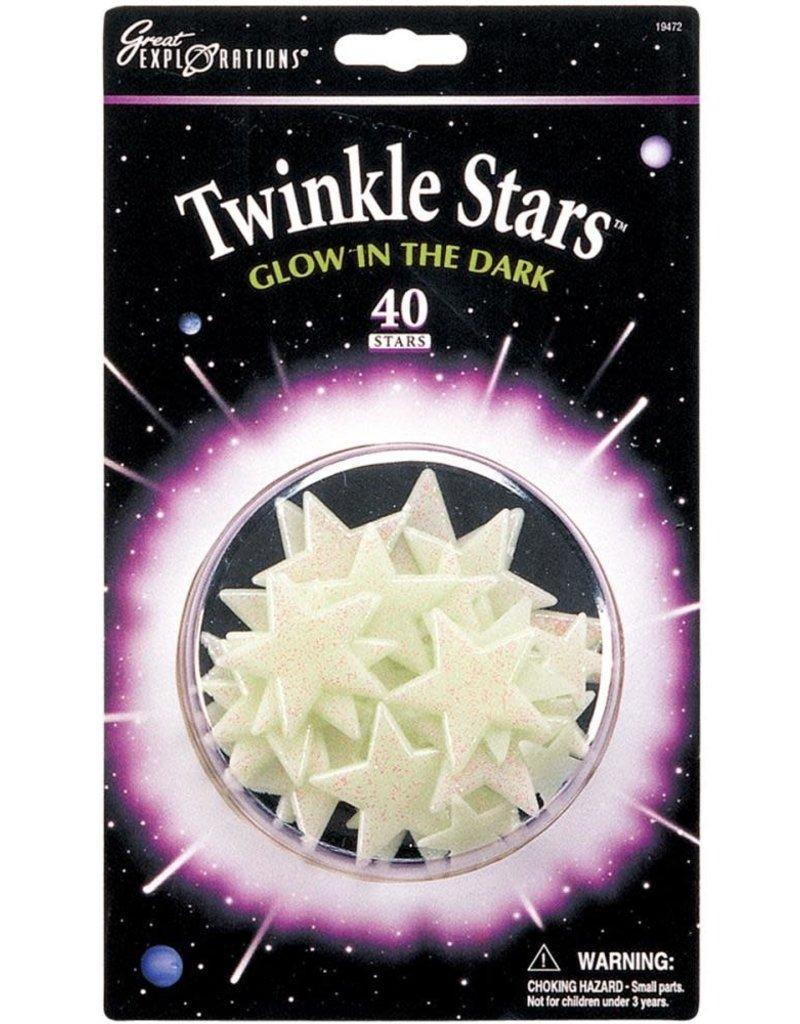 University Games Glow In The Dark Twinkle Stars 40 Piece