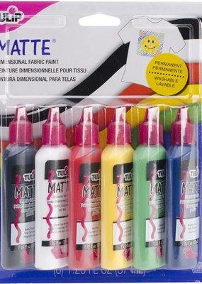 Tulip Dimensional Fabric Paints 1.25oz 6 Pack Matte
