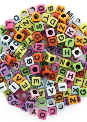 Leisure Arts Alphabet Beads Assorted Colors