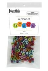 Leisure Arts Alphabet Beads Assorted Colors