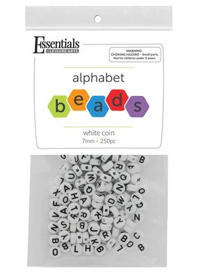 Leisure Arts Alphabet Beads Black & White
