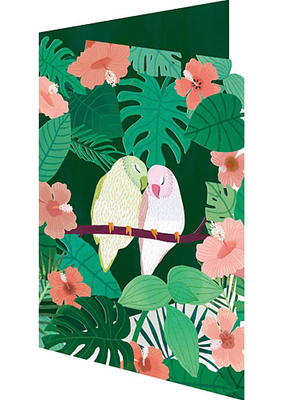 Roger La Borde Card Love Birds Laser Cut