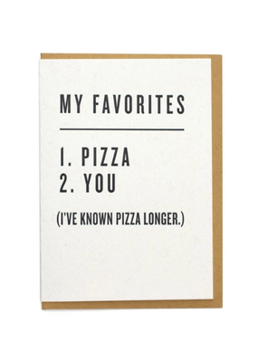 Card My Favorites Pizza & You
