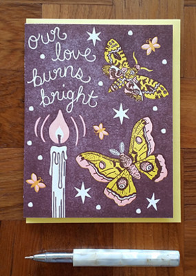 Noteworthy Card Moth Flame
