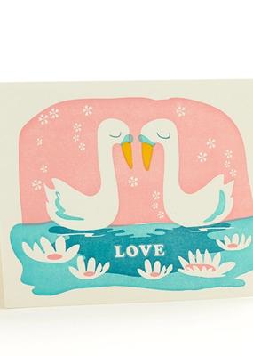 Ilee papergoods Card Swan Love