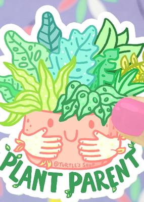 Turtle's Soup Vinyl Sticker Plant Parent