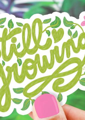 Turtle's Soup Vinyl Sticker Still Growing Plant Lover
