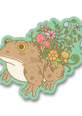 Turtle's Soup Vinyl Sticker Botanical Toad