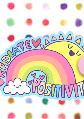 Turtle's Soup Vinyl Sticker Radiate Positivity