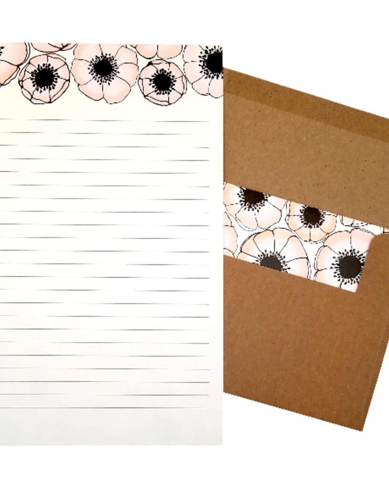 Beve Letter  Writing Set  Anemone