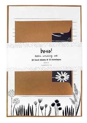 Beve Letter  Writing Set Navy Floral