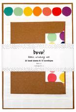 Beve Letter  Writing Set Rainbow Dot