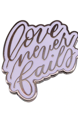 collage Enamel Pin Love Never Fails