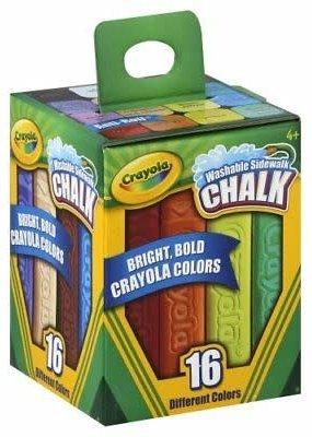 Crayola Sidewalk Chalk 16 Pack