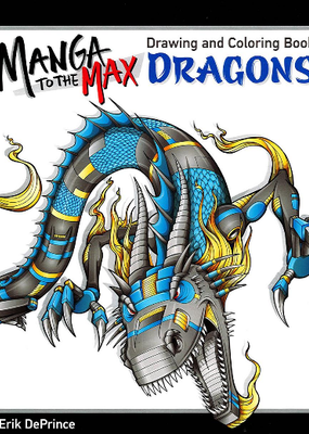 Design Originals Manga To The Max Dragons Coloring Book