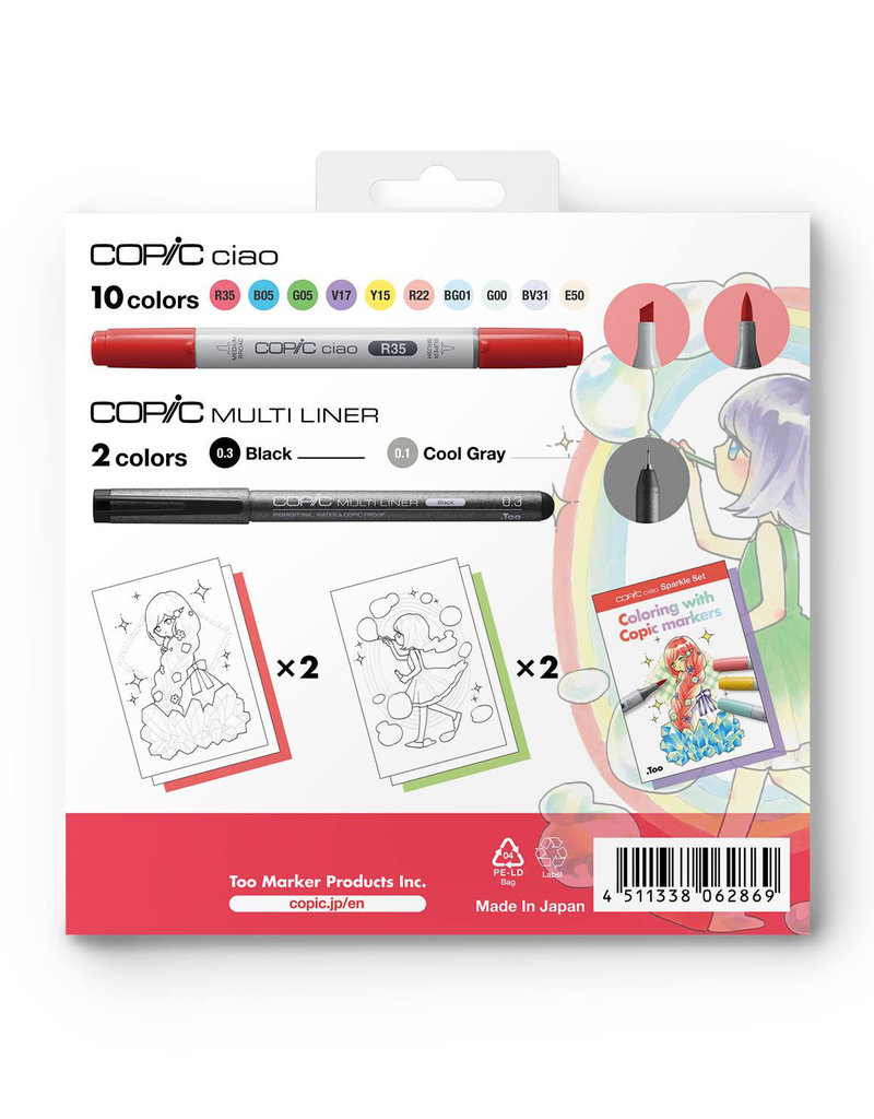 Copic Copic Ciao Limited Edition 12 Piece Sparkle Set
