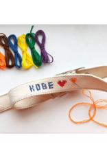 Kikkerland DIY Dog Collar Cross Stitch Kit Large