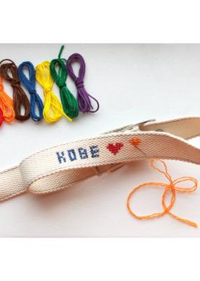 Kikkerland DIY Dog Collar Cross Stitch Kit Small