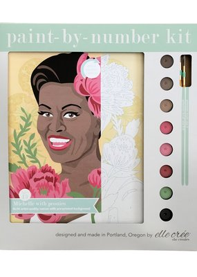 elle cree Paint By Number Kit Michelle with Peonies