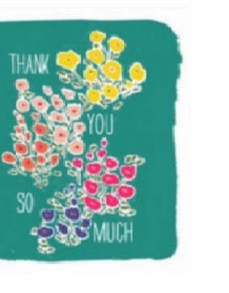 Waste Not Card Micro Floral Thank You