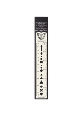 Standard Issue Bullet Template Metal Ruler Bookmark 6 Inch Cream