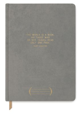 Designworks Ink Journal The World is a Book Grey Bookcloth