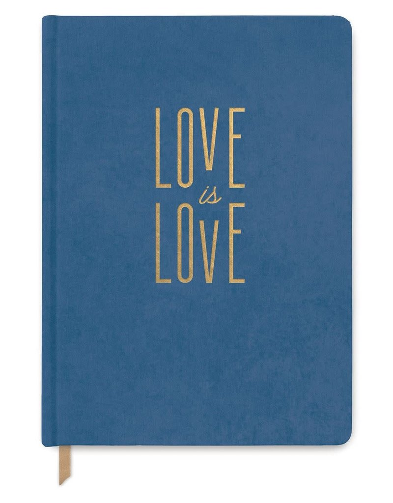 Designworks Ink Journal Love is Love Blue Bookcloth