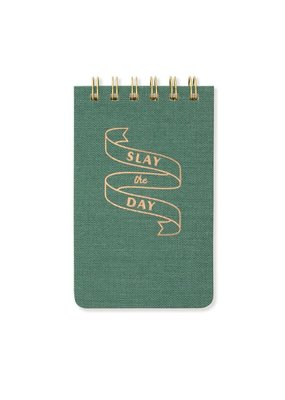 "Designworks Ink Twin Wire Notepad 3.25"" x 5.5"" Slay the Day"