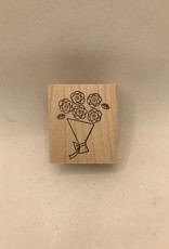 collage Stamp Bouquet Of Roses