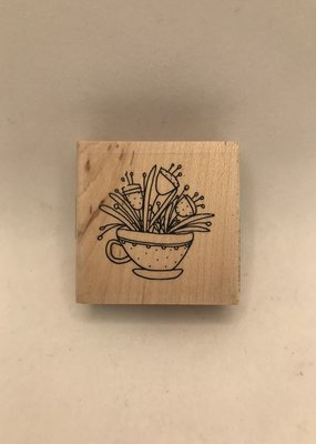 collage Stamp Cup Of Spring