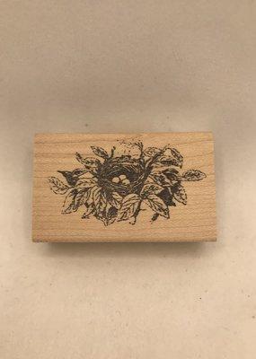 collage Stamp Nestled Nest