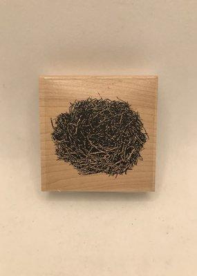 collage Stamp Twiggy Nest