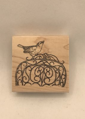 collage Stamp Bird On Chair