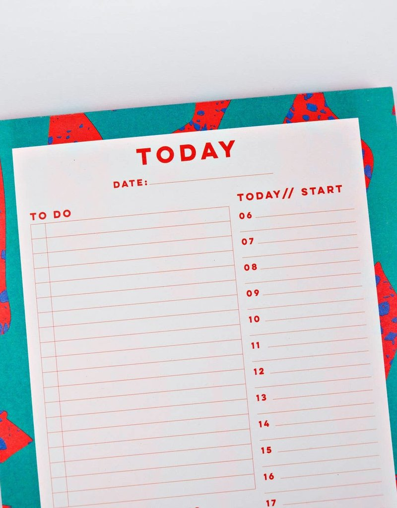 The Completist Daily Planner Pad Terrazzo Shapes