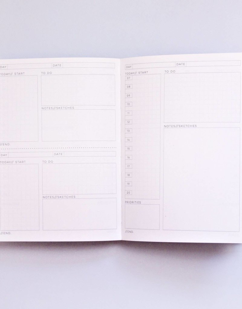 The Completist Daily Planner Book  Memphis Brush #1