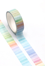 collage Washi Rainbow Vertical Lines Pastel
