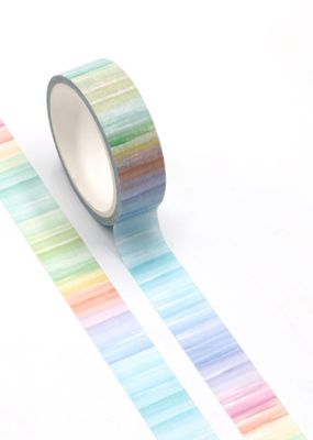collage Washi Rainbow Vertical Lines