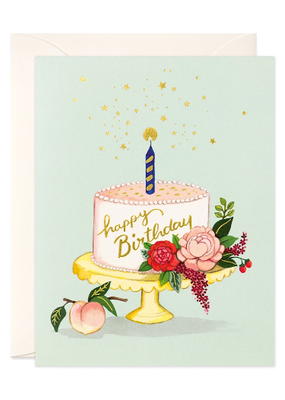 joo joo paper Card Peach Cake