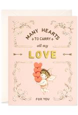 joo joo paper Card Many Hearts
