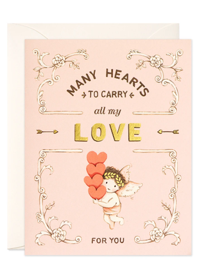 joo joo paper Card Many Hearts