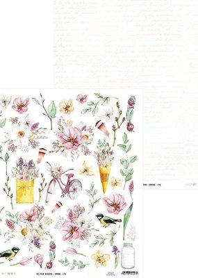 Simple Stories 12 x 12 Decorative Paper Spring