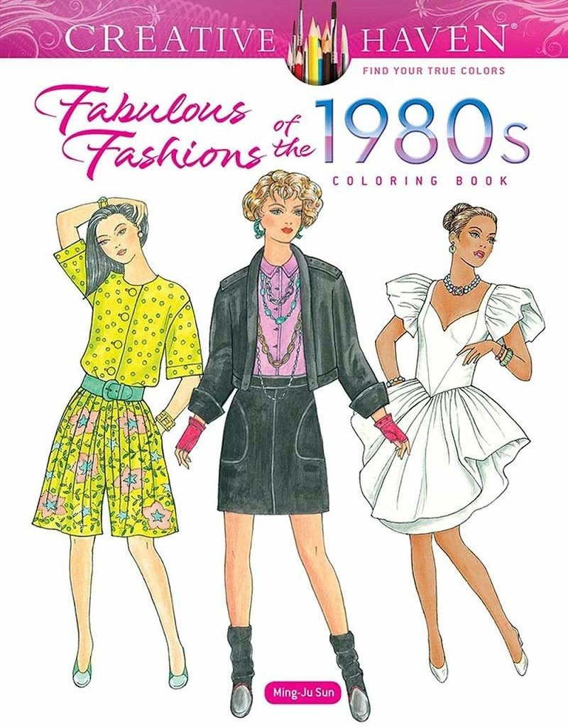 Dover Coloring Book Fabulous Fashions of the 1980's