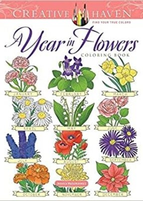 Dover Coloring Book A Year in Flowers