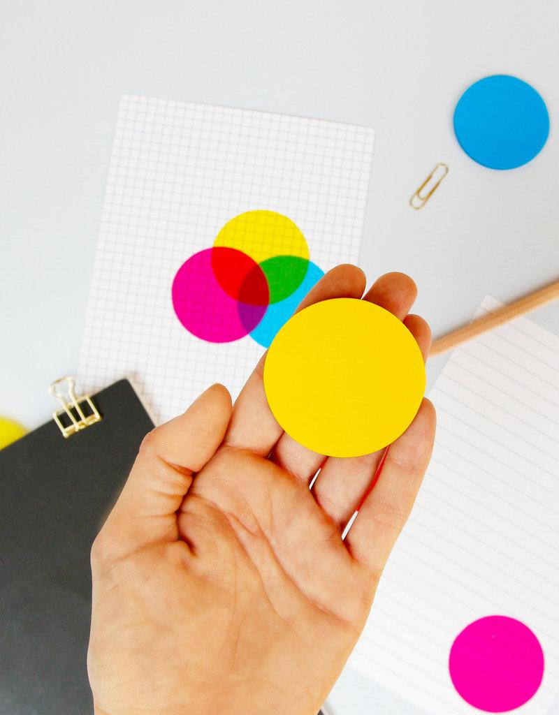 SUCK UK CMYK Transparent Sticky Notes