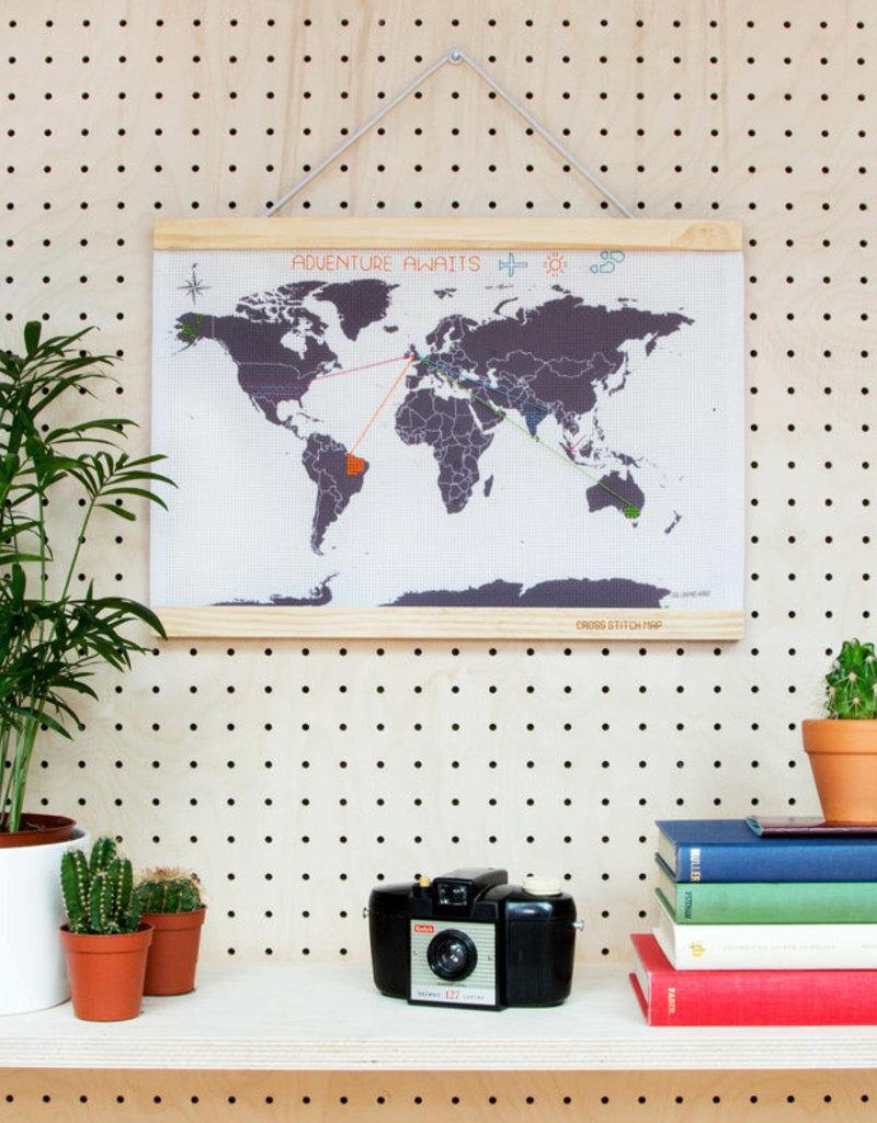 SUCK UK Cross Stitch Map