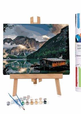Winnie's Picks Paint by Number Norwegian Fjord Cabin