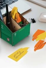 Fred Desk Dumpster Pencil Holder & Notes